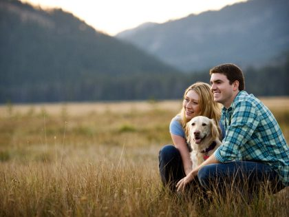 Kristen & Brad Engagement Shoot Sparks Lake Central Oregon | Central Oregon Wedding Photography